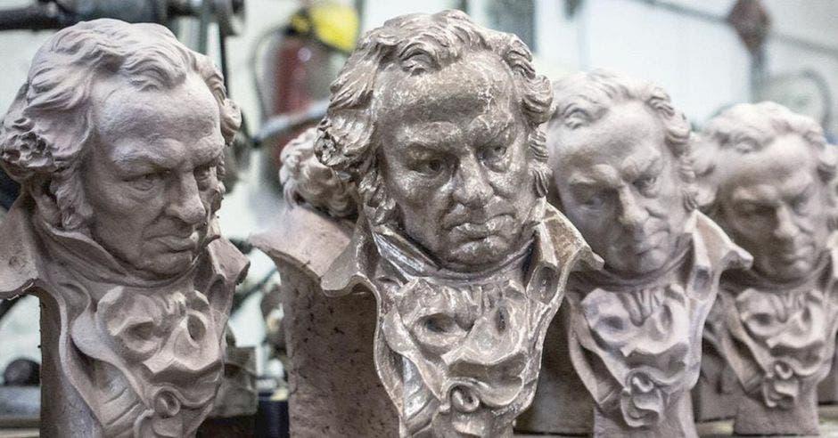 Las estatuillas de los premios Goya