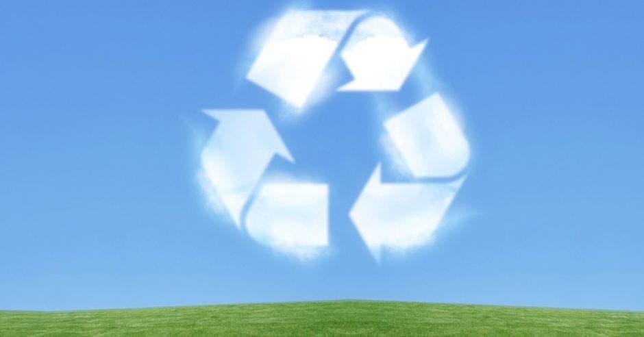 un símbolo de reciclaje