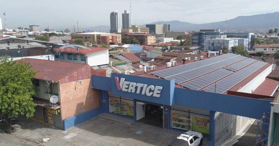 fachada del local de Vértice en San José