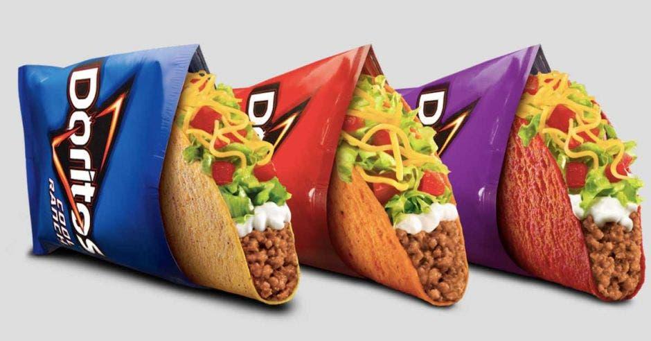 Doritos Locos Tacos en sus tres Sabores