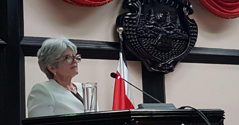 Rocío Aguilar, ministra de Hacienda.