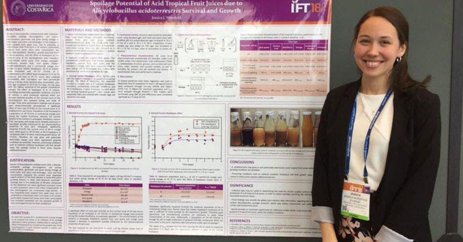 Jessica Worsfold, estudiante de ingeniería de alimentos.
