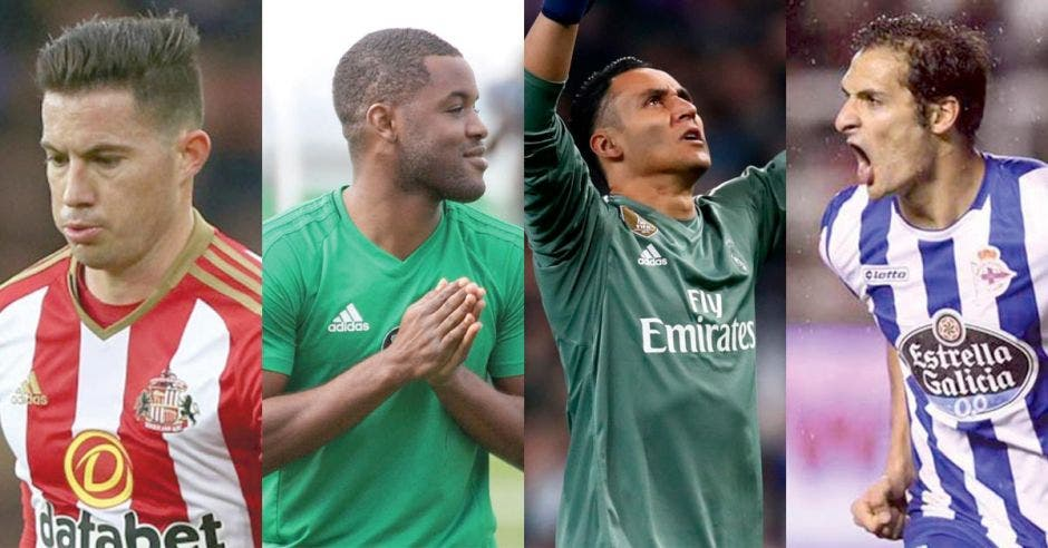 Bryan Oviedo, Joel Campbell, Keylor Navas y Celso Borges