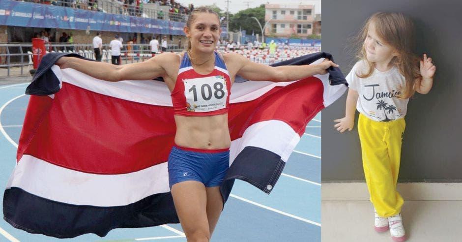Medallista de oro tica disputó Mundial de Atletismo con su hija en el vientre