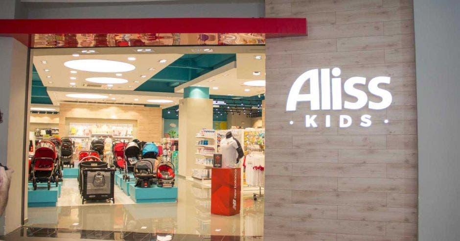 vista de la tienda desde la entrada
