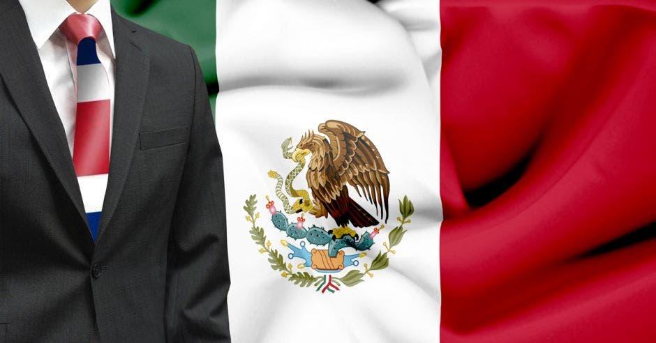 banderas de ambos países