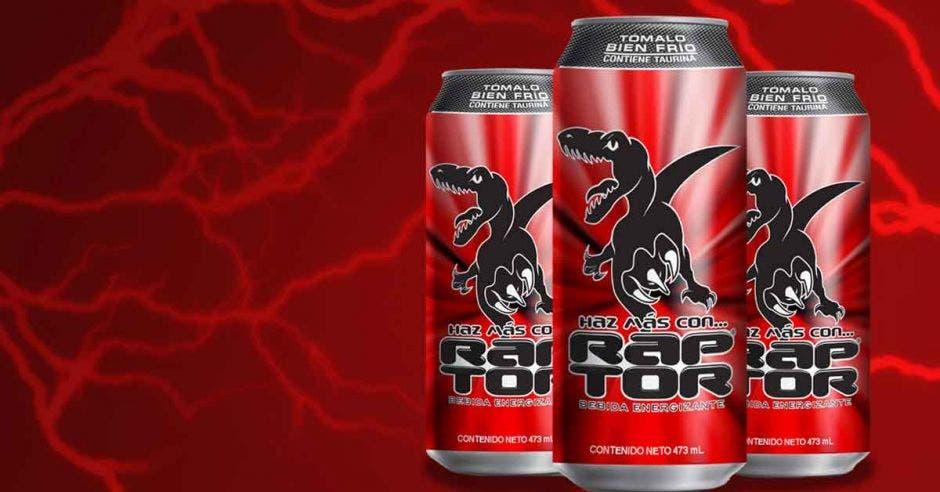 Latas de bebida Raptor
