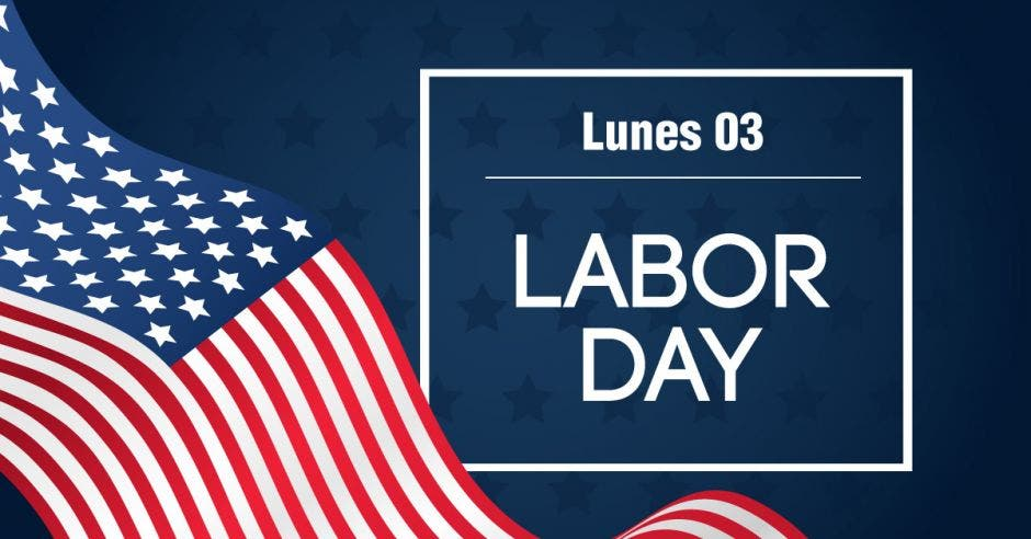 día del trabajo, bandera de Estados Unidos.