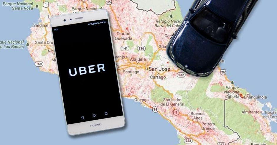Uber, un mapa de CR