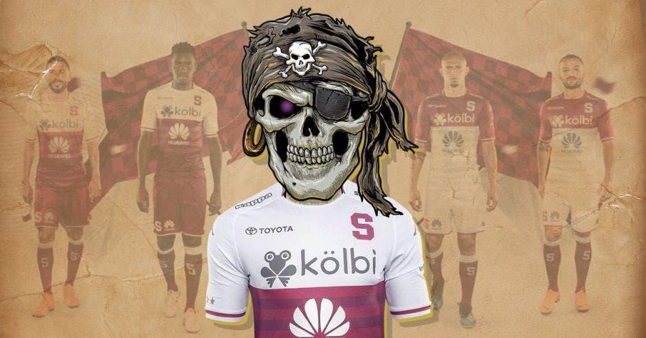 7a4dc5e8ded38 Venta de camisetas pirata del nuevo uniforme deja al Monstruo con el ojo  morado