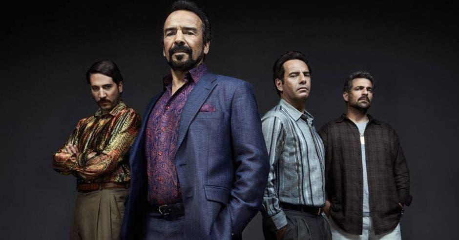 Cuatro de los personajes de la serie