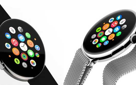 Dos Apple Watch sobre un fondo blanco