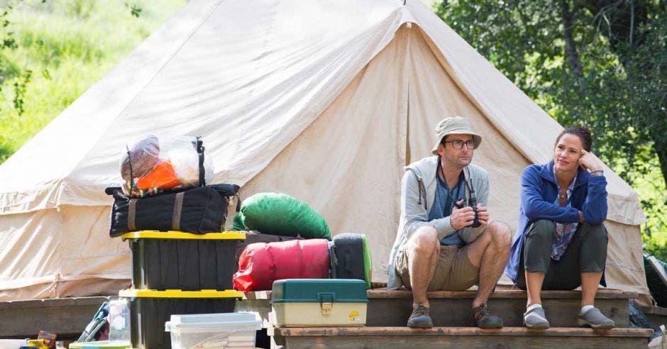 actores en camping