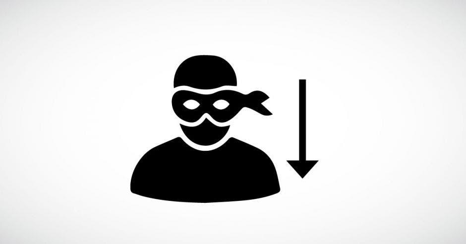 Símbolo de un ladrón