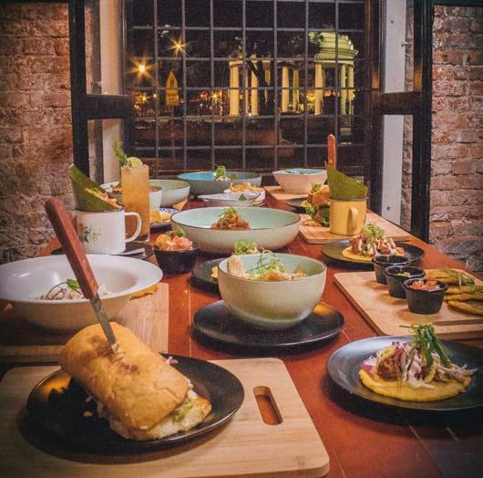 comida en una mesa