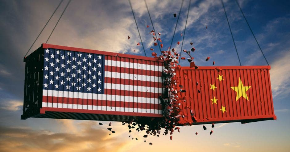 choque entre contenedores de Estados Unidos y China