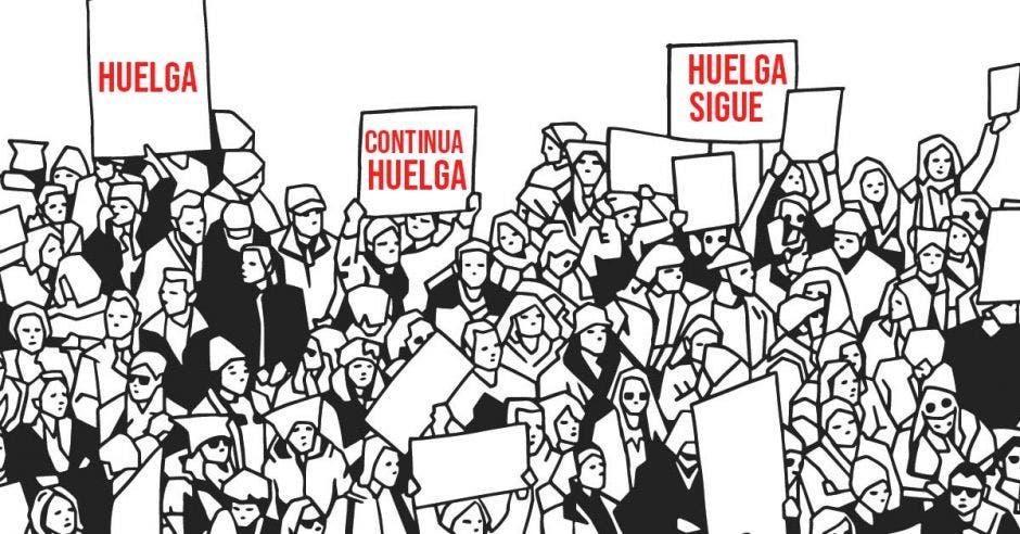 Gobierno suspenden primer encuentro con sindicatos y huelga sigue