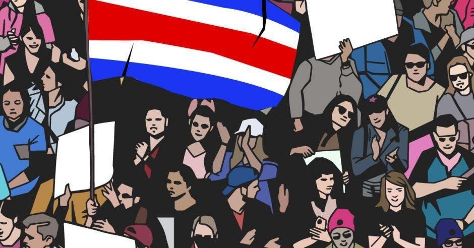 Huelga manifestantes