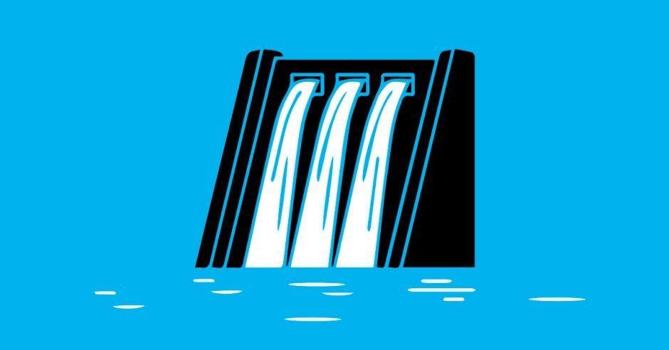dibujo de hidroelectrica