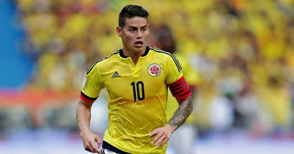James Rodríguez se recuperó de su lesión y podría jugar ante la Tricolor.