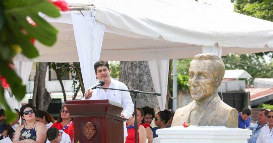 Mandatario envió mensaje a Juan Rafael Mora Porras.