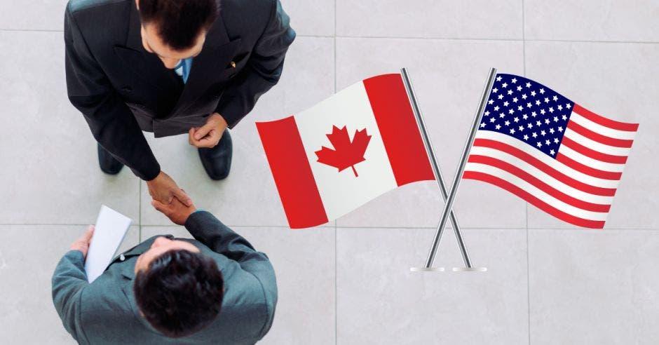 banderas Estados Unidos, Canadá.