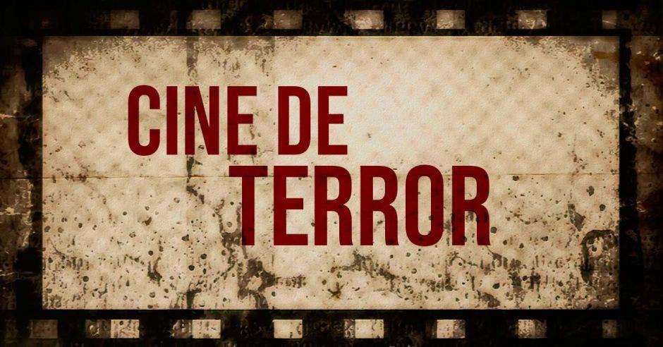 rótulo que dice cine de terror
