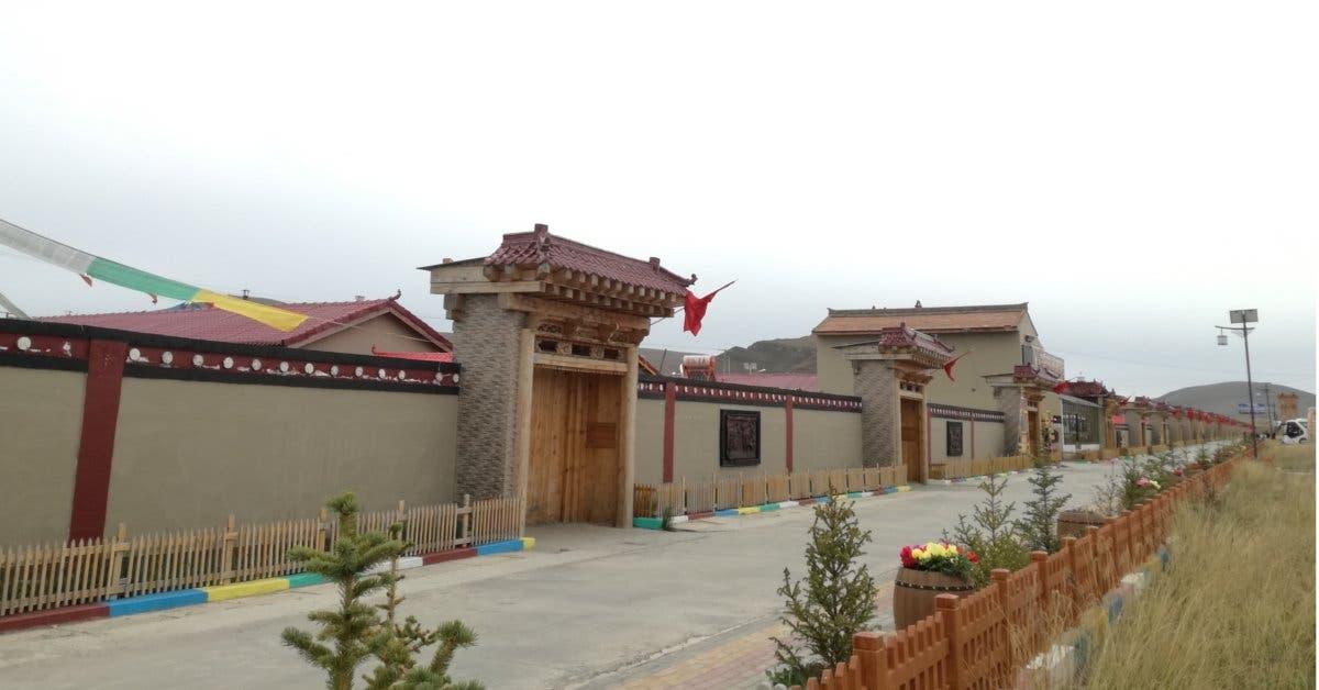 La entrada de la aldea de Gaxiu