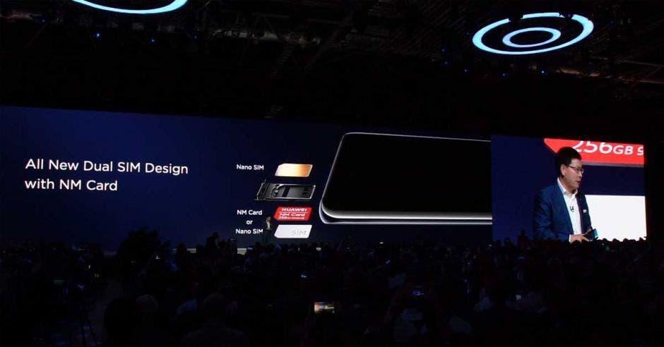Imagen de la presentación del teléfono en Londres