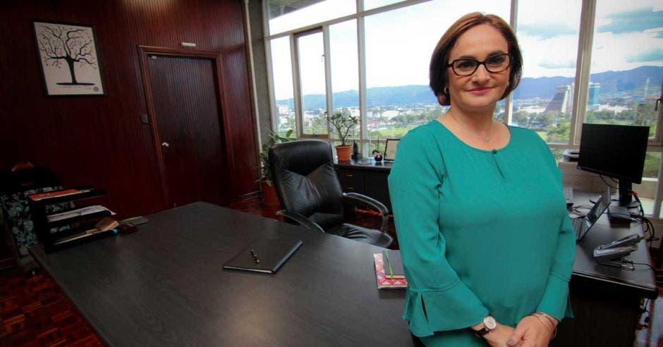 Irene Cañas en las oficinas centrales del ICE