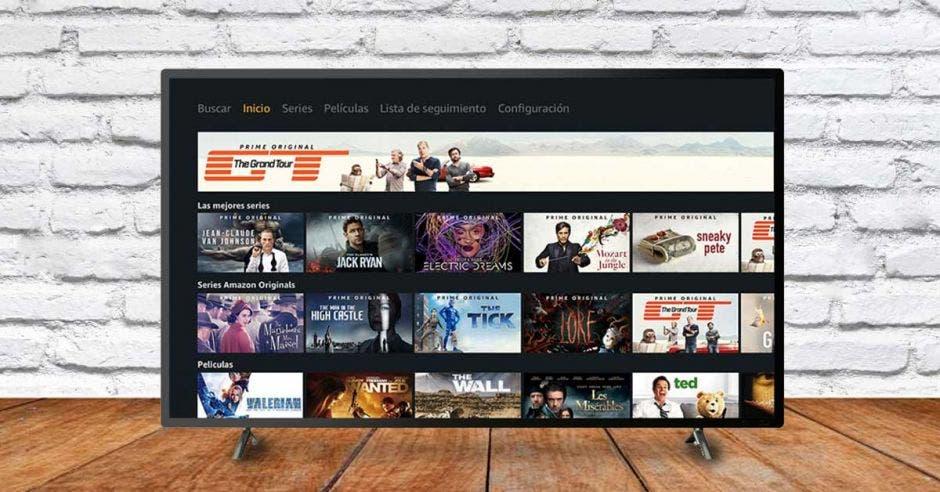 Un televisor con Amazon Prime puesto