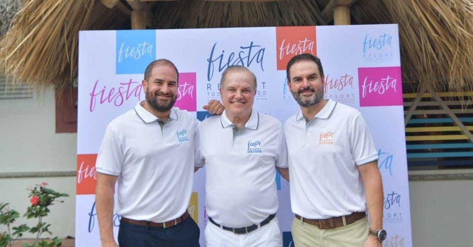 Andrés Pacheco, director Corporativo de Desarrollo Enjoy Group; Rubén Pacheco, presidente de la Junta Directiva de Enjoy Group; y Javier Pacheco, presidente Ejecutivo Enjoy Group