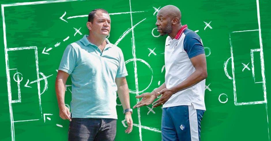 Mario Víquez y Paulo César Wanchope salen frente a frente con una pizarra de técnico con estrategias de juego