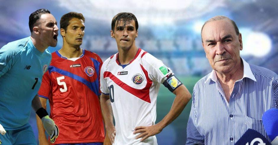 Celso Borges, Keylor Navas y Bryan Ruiz son los capitanes de la Sele y tomarán acciones legales contra Adrián Gutiérrez, expresidente de Comisión de Selecciones. Fedefutbol/La República