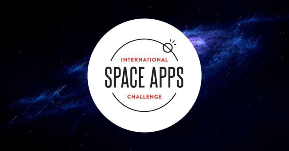 Logo de Space Apps sobre un fondo azul