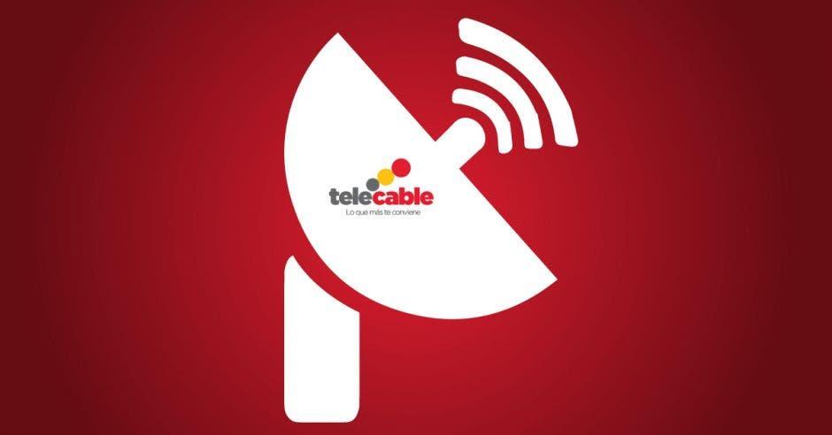 Una antena con el logo de Telecable