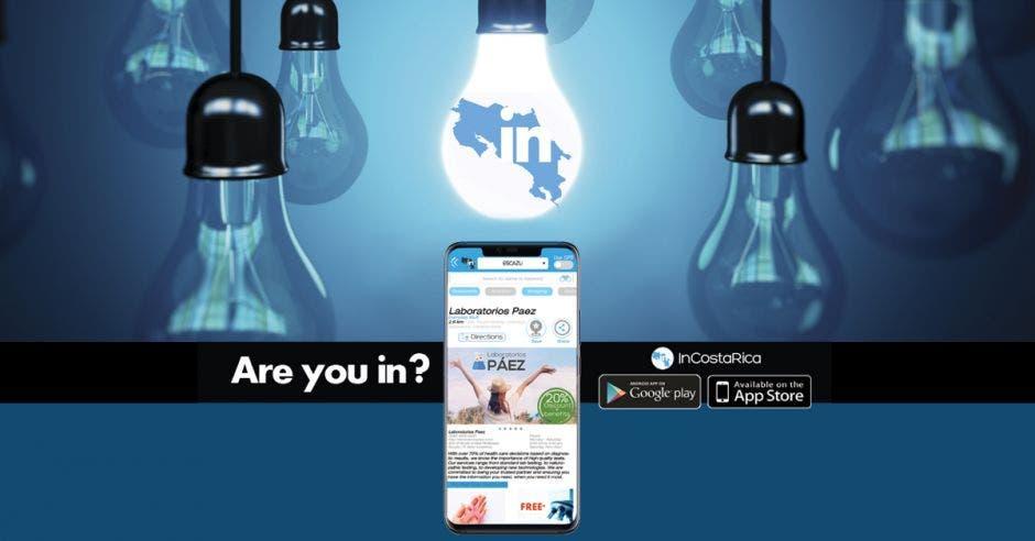 Vista de la app desde un celular