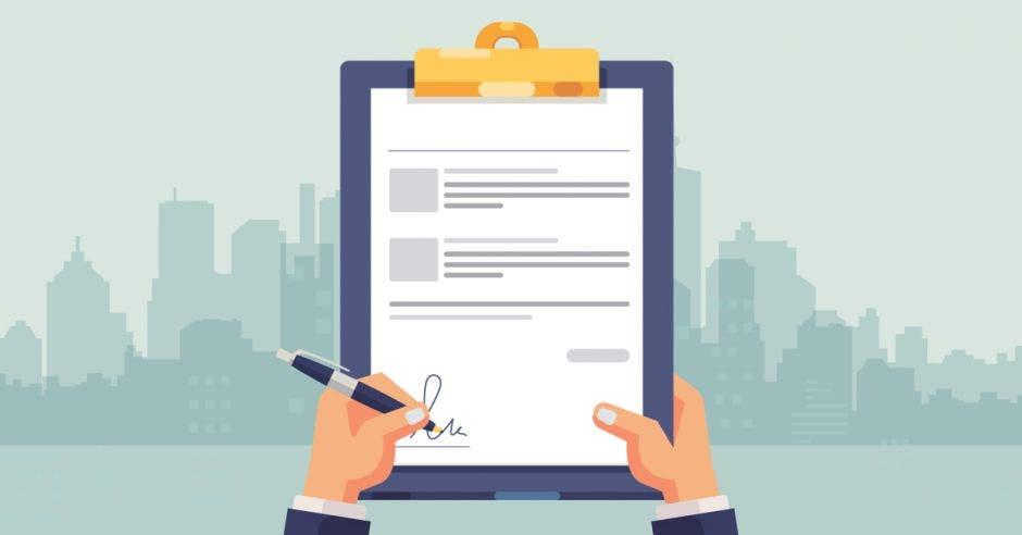 Un documento firmado