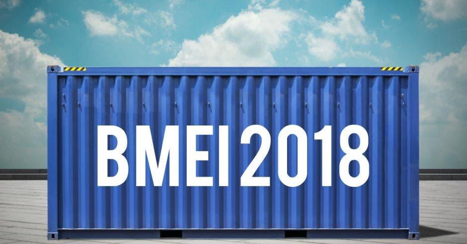 Un contenedor con las siglas BMEI