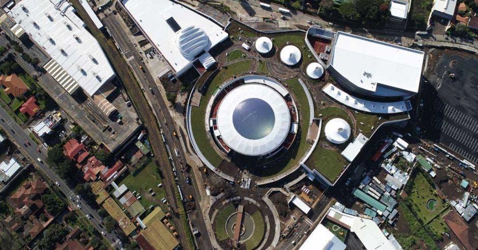 vista aérea del complejo