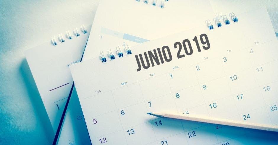 Calendario de junio 2019