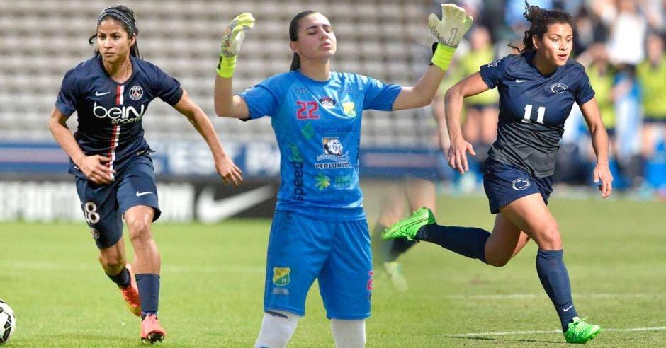 Shirley Cruz, Daniela Solera y Raquel Rodríguez ganaron importantes títulos antes que cualquier otro futbolista. Archivo/La República