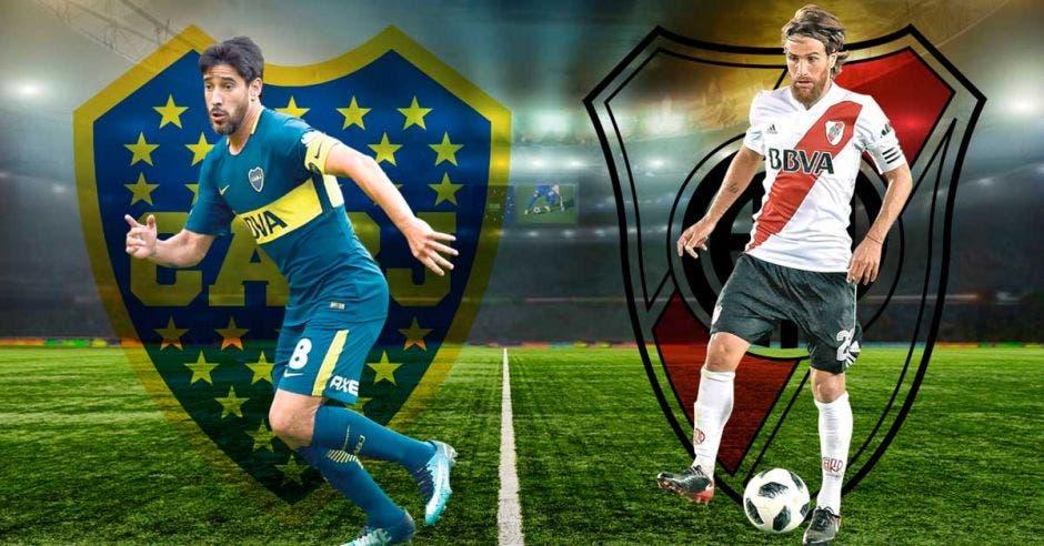 Los capitanes Pablo Pérez de Boca y Leonardo Ponzio de River disputarán el Clásico más importante de la historia. AFA/La República