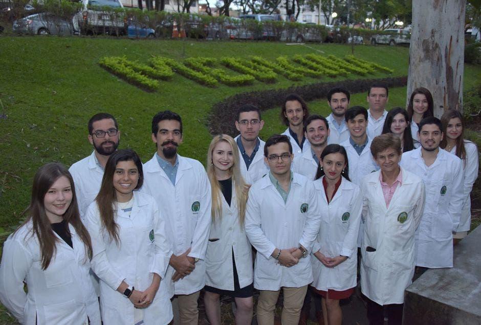 Estudiantes de la UCR que hicieron prueba de internado interncional 2018