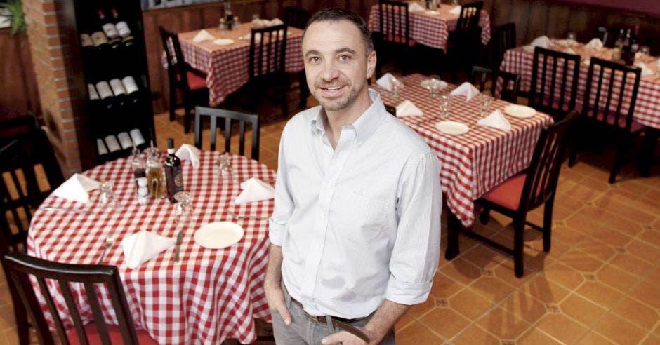 David Eminente llegó a Costa Rica hace 13 años, primero se dedicó a la importación de productos italianos. Esteban Monge/La República