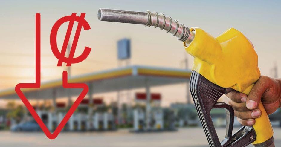 Una manguera con gasolina