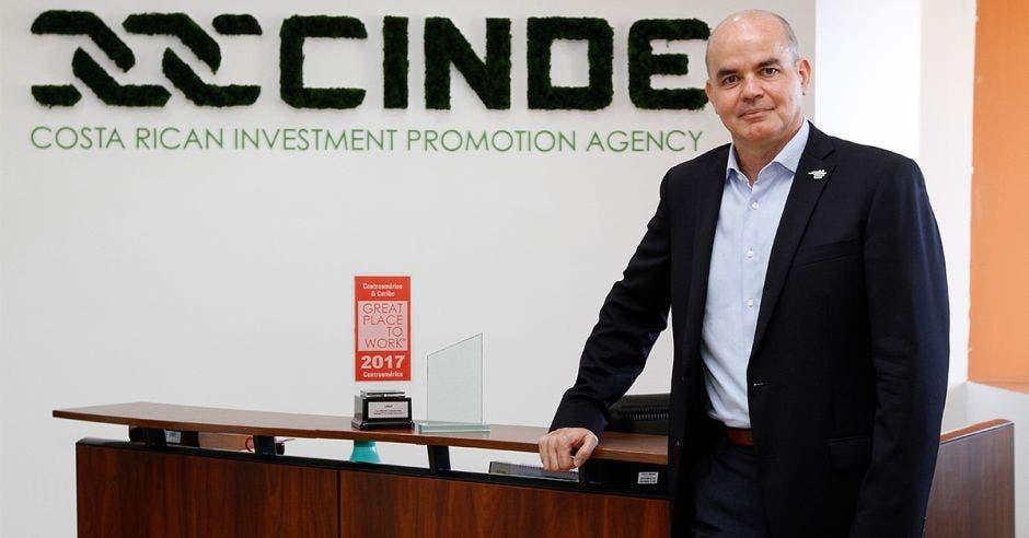 Jorge Sequeira posa en las oficinas de Cinde