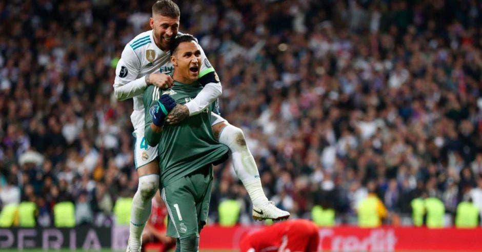 Keylor Navas obtuvo el tricampeonato de la Champions con el Real Madrid y Luka Modric se dejó todos los premios personales. Archivo/La República