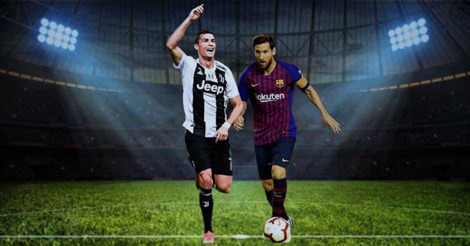 Lionel Messi y Cristiano Ronaldo son los máximos goleadores de sus respectivos clubes. Elaboración propia/La República