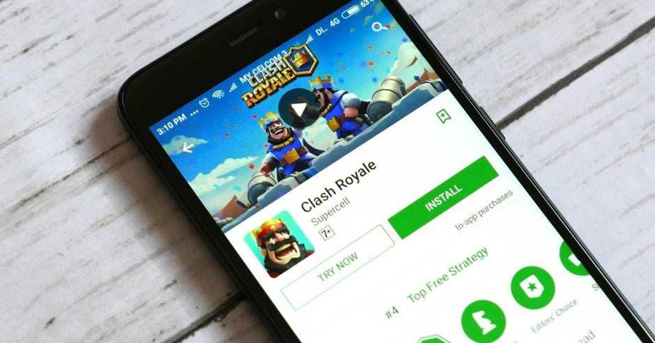 El juego Clash Royale descargado desde la Play Store de Google